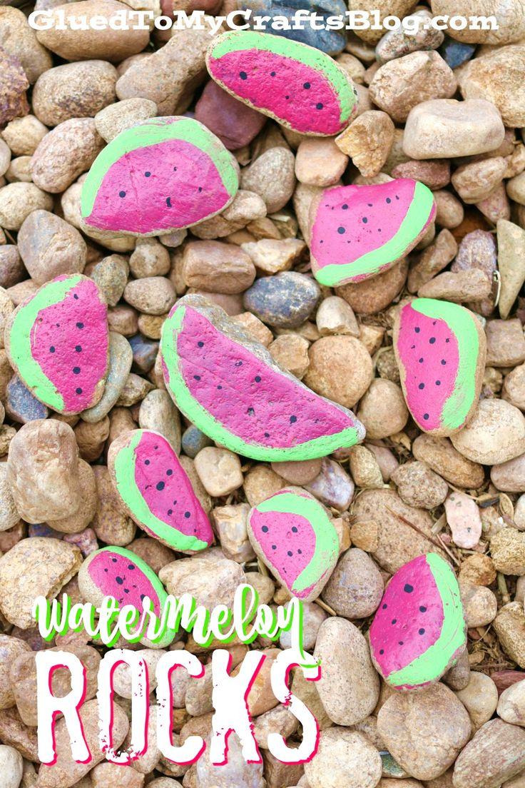 Watermelon Rocks - Kid Craft