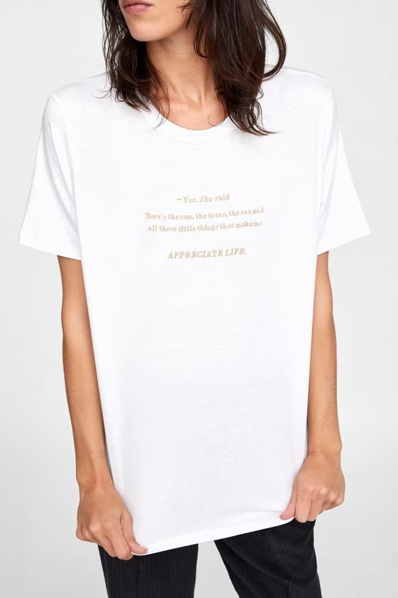 c5b9cd93 EMBROIDERED T-SHIRT - Item available in more colors | TEXT | T ...