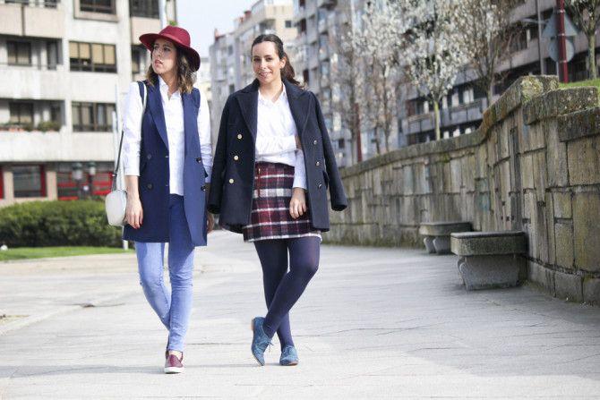 Looks juntas #azul #granate #looks #moda #vigo #bershka #modagalicia #blog #chaleco #azul #siemprehayalgoqueponerse