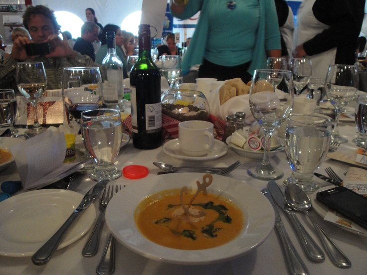 Sweet potato blue mussel soup w smoked salmon & PEI potato anchor at the #PEI #International #Shellfish #Festival www.fallflavours.ca