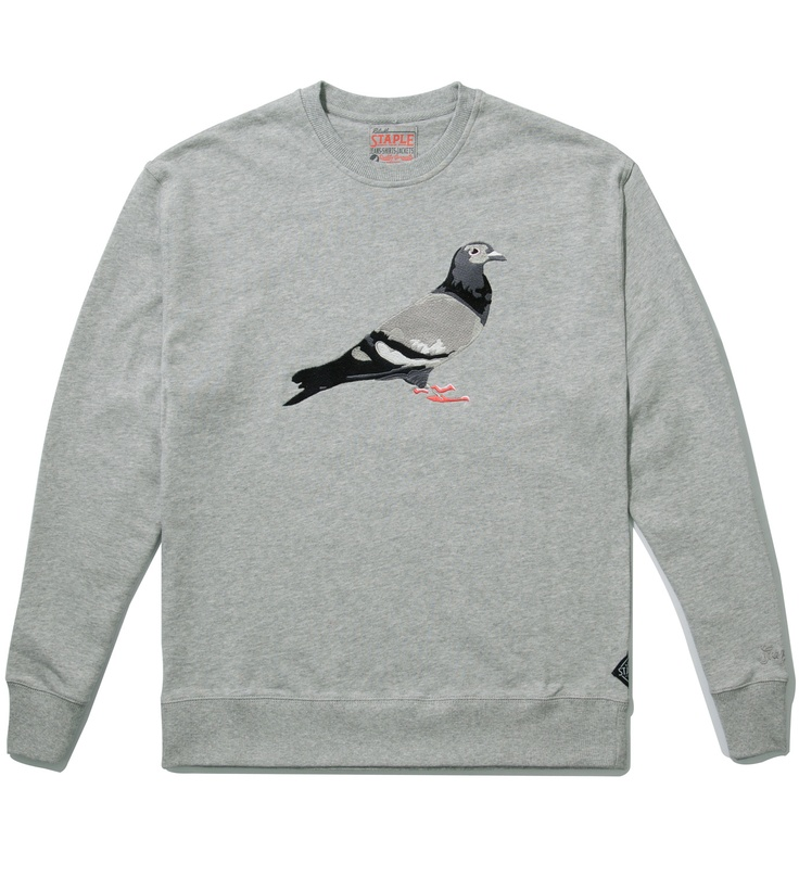 Heather Grey RPB Pigeon Crewneck Sweater