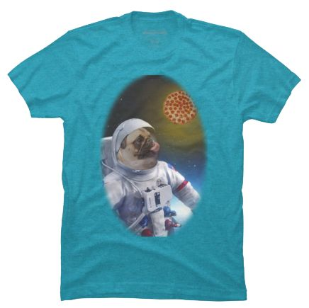 This Pugernaut is on his hunt for pizza!!  Available in sizes S to 5XL and in 17 different colors. http://iheartdogstshirtsandhoodies.com/pug-astronaut-in-space-t-shirt/ Follow on Instagram: https://www.instagram.com/my.pug.life/