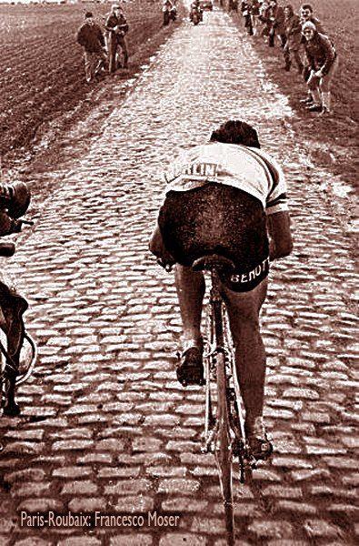 Paris-Roubaix Italian strongman, Francesco Moser Visit us @ http://www.wocycling.com/ for the best online cycling store.