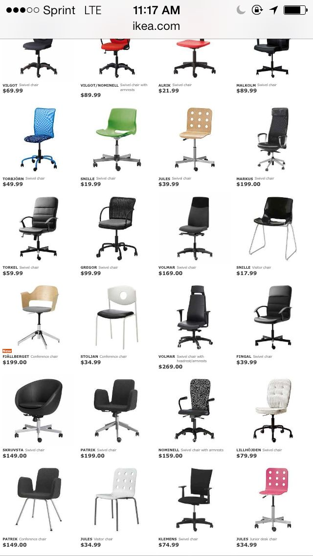 Ikea office chair pricing