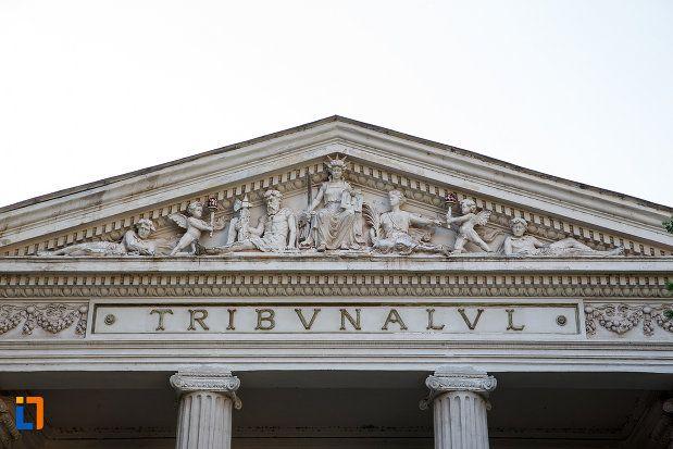 Tribunalul (1914) - detaliu, azi Judecătoria, Strada 1 Decembrie 6, Turnu Măgurele