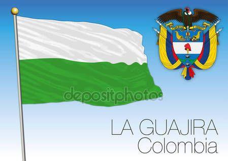 La bandiera regionale di Guajira, Colombia — Vettoriali  Stock © frizio #140261794