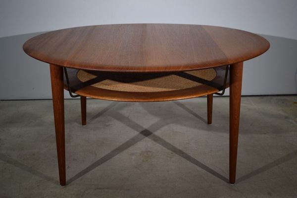 Danish Mid Century Solid Teak Coffee Table, Peter Hvidt & Orla Mølgaard, Fd 515 | Vinterior