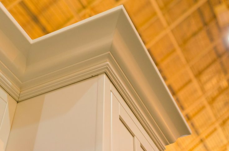 Crown Moulding on top of a wall cabinet-  Adirondack White