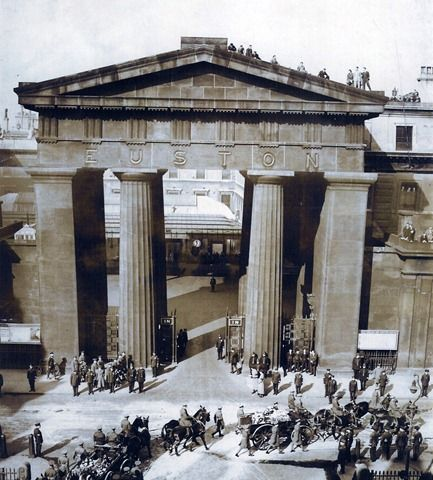 The old Euston Arch, a fine Doric style demolished under the instructions of the incompetent British Railways Board of Directors. I only hope there is sufficient photographic and design evidence to reconstruct this as accurate as possible, using the same stone.