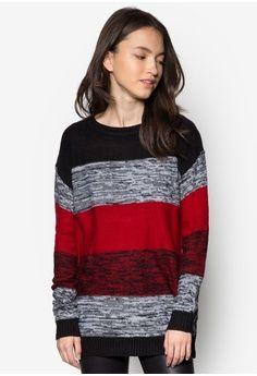 Colourblocked Knit Sweater Top