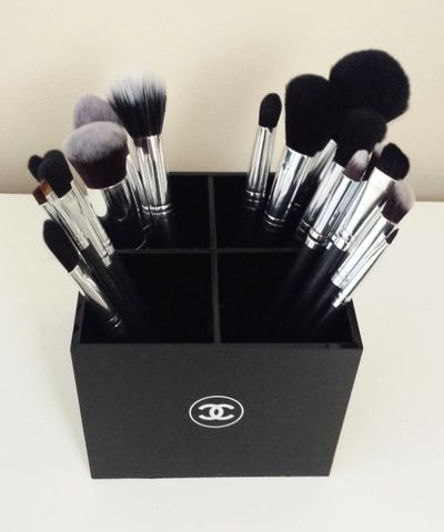 Chanel Acrylic Brush Vanity Makeup & Brush Holder