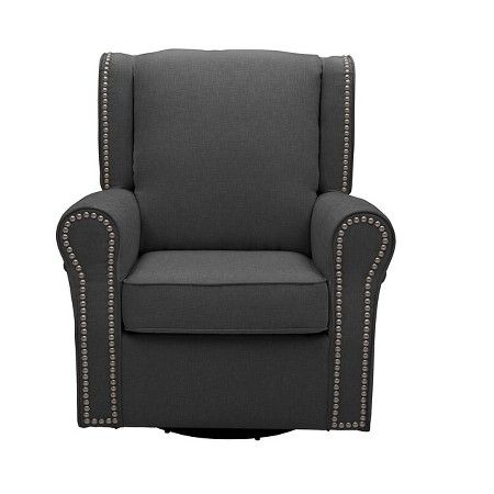 Delta Children Middleton Nursery Glider Swivel Rocker Chair – Charcoal : Target