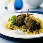 Lamb Cutlets with Couscous - flame grilled at 500f/260c