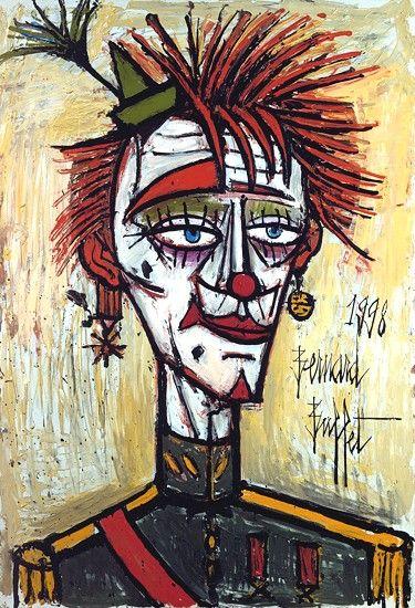 Bernard BUFFET ( 1928 - 1999 ) - Clown militaire - 1998