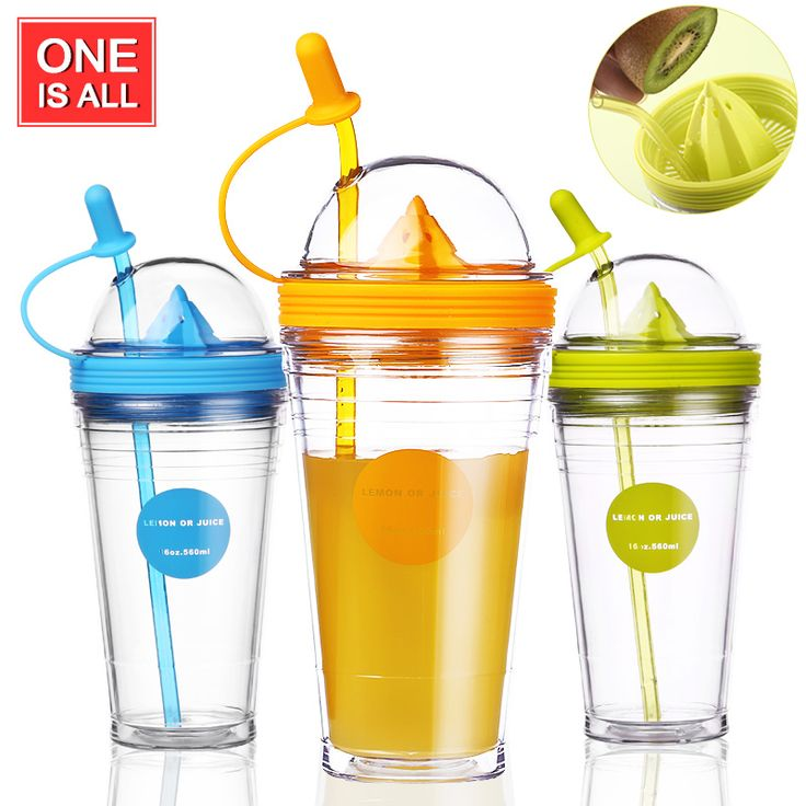 NEW Fruit Infusing Infuser Water Bottle Sports Lemon Juice Bottle For Water Straw Coffee Milk Tea Cup Water Tumbler