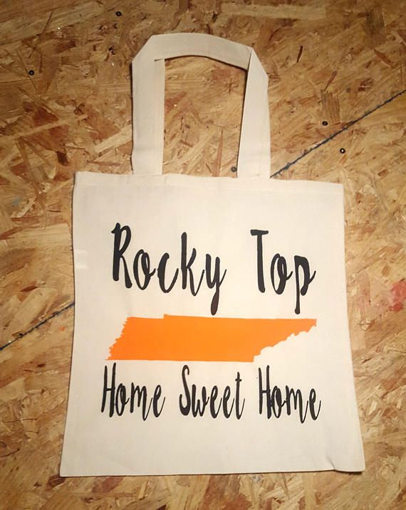 Rocky Top Tennessee TN UT University of Tennessee Vols Volunteers Lady Vols Football Bag Smoky Mountains Large Cotton Tote Bag