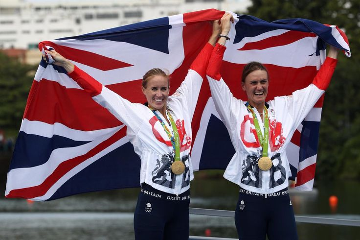 08.12.16 Gold for GB's Helen Glover and Heather Stanning in coxless pairs rowing. #Rio2016