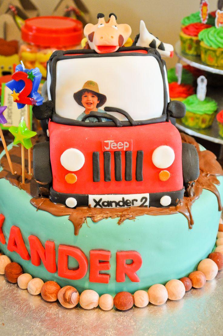 Jungle Safari cake for Xander's 2nd b-day