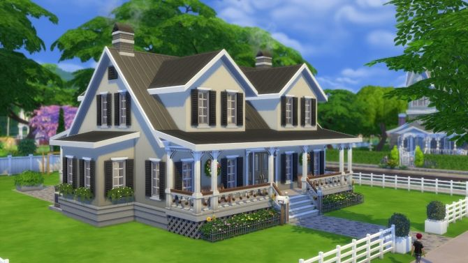 The Hawthorne house by pollycranopolis at Mod The Sims via Sims 4 Updates  Check more at http://sims4updates.net/lots/the-hawthorne-house-by-pollycranopolis-at-mod-the-sims/