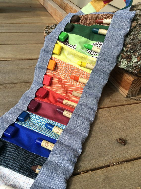Stockmar beeswax crayon roll for 12 blocks and by HandmadebyAnnaZ