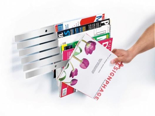 {Illuzine Magazine Rack} by Umbra - what a nifty way to display/organize magazines!