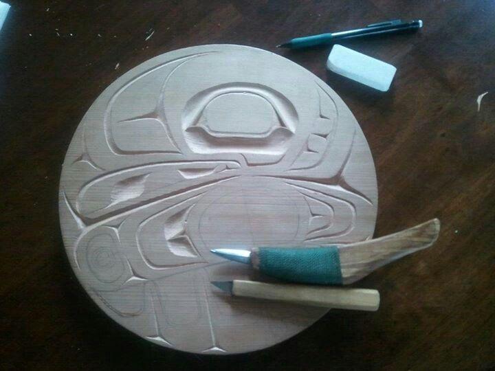 EAGLE drum design. Artist Joseph Ridley