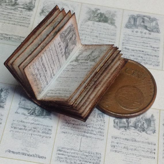 1:12 Miniature musical book by WeLoveMiniatures on Etsy