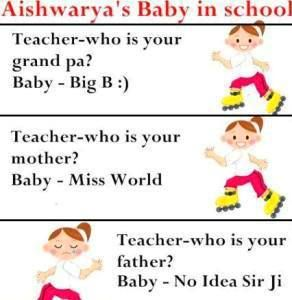 aishwarya baby in school