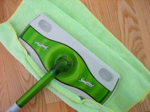 Swiffer Cleaning Hack: Use microfiber towels instead of Swiffer Sweeper refills.