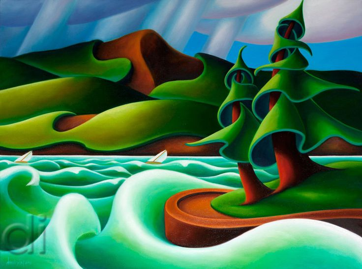 The Wind on English Bay 30 x 40 2012 oil on canvas
