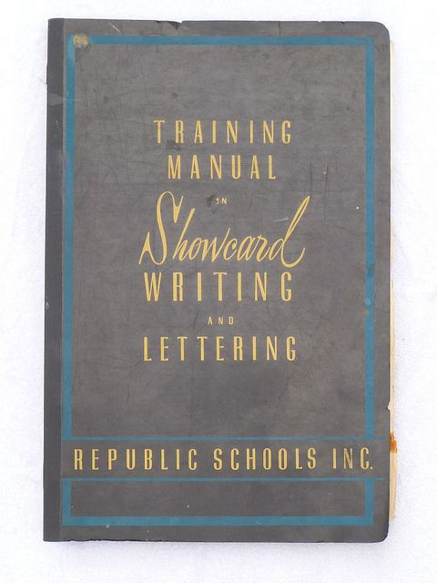 The 58 best sign painting books images on pinterest sign painting sign lettering books training manual in showcard flickr photo sharing malvernweather Image collections