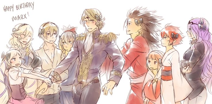 omfg i don't know what is happening (and neither does marx) (takumi doesn't approve of his little bows)