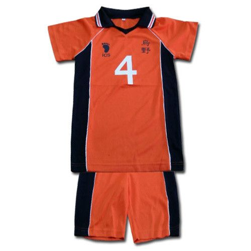 If you want to join the Karasuno High volleyball club from Haikyu!, you're going to need a jersey first. This set from Great Eastern Entertainment includes shorts and a polo neck T-shirt with the number 4 in orange and black. It's made of polyester and comes in sizes S, M, L, and XL. Now you can be a part of your favorite team!  #tokyootakumode #cosplay #Haikyu!!