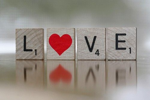 Love. : Ideas, Craft, Heart, Quotes, Valentines, Scrabble Tile, Things, Photo, Valentine S