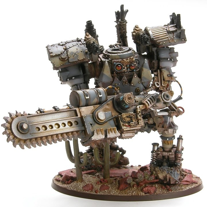 Ork Mega Dread, forgeworld, conversion stompa chainsaw, Warhammer 40k.