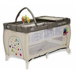 CUNA DE VIAJE ASALVO MIX PLUS: incluye elevador, cambiador, colchón, juguetero, bolsillo para juguetes, gatera y bolsa de transporte.