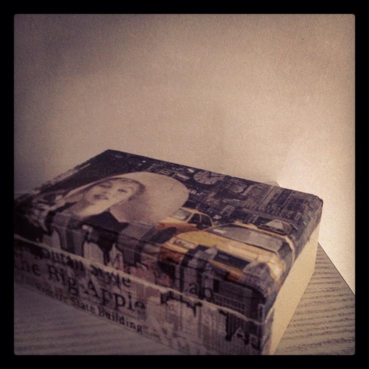 Wood box New York