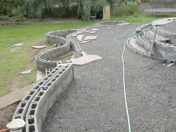 Cinder Block Wall Backyard :  Blocks, Backyard 911, Cinder Blocks Wall, Planters Wall, Cinder Block