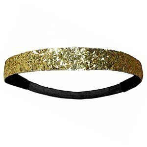 One GOLD Sports glitter Fashion headband - One Size. Sparkly Shine!