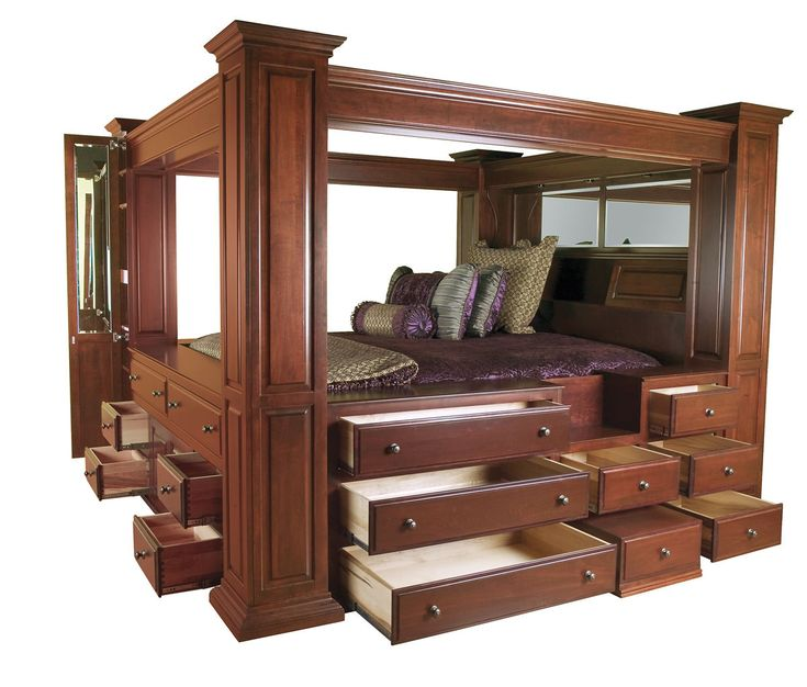 223 best images about my style on pinterest land 39 s end for Wooden canopy bed designs