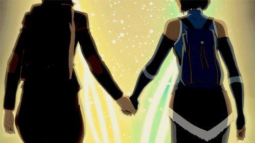 Korra & Asami GIF - La leyenda de Korra