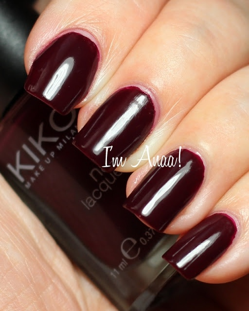 Im A nail art addict!: KIKO 243 Plum Red