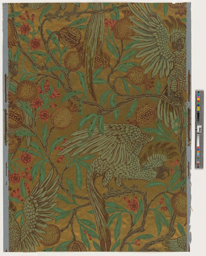 Wallpaper | Crane, Walter, 1845-1915 (Designer) | 2008.6.32 -- Historic New England