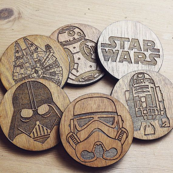 Star Wars set of 6 Coasters. Sous Verres