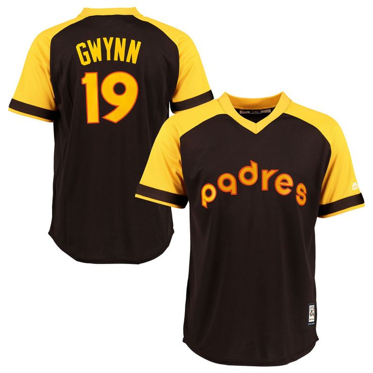 b101044d9 16 San Diego Padres Baseball Tony Gwynn San Diego Padres Majestic Youth  Official Cool Base Player Jersey - Brown ...