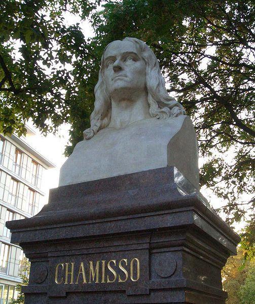 Bust of Adelbert von Chamisso at Monbijoupark, Berlin-Mitte