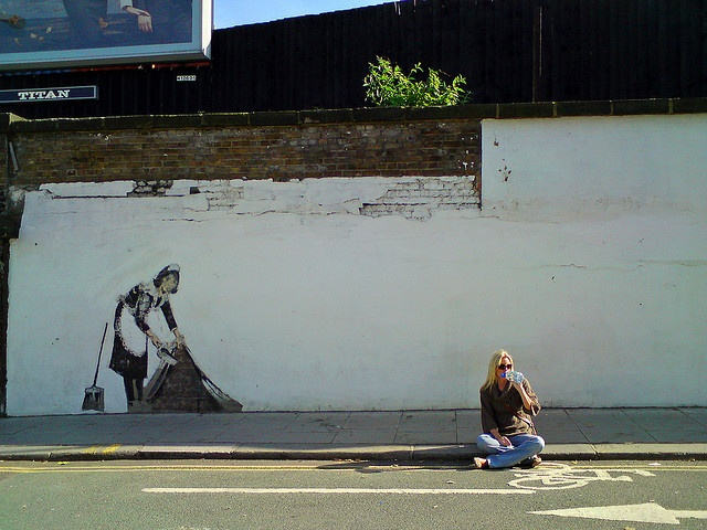 The Establishing Shot: BANKSY MAID - CAMDEN, LONDON by Craig Grobler, via Flickr