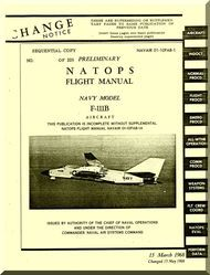General  Dynamic  F-111 B Aircraft Flight Manual, NVAIR 01-10FAB-1, 1968