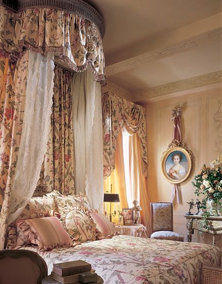 The addition of the patterned lace curtain gives an soft feminine quality. I have ones like this over my bed- just the lace ones- so it's not too frou-frou. Attractive room with soft colors. Your complection would look nice in here! Diane Burn