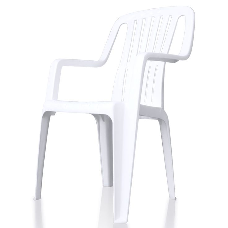 Stackable leisure white furniture outdoor plastic garden chair